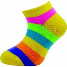Novia Dětské kotníkové ponožky 205N 4 páry v balení mix vzorů pruhy 5aeb4aeaaf