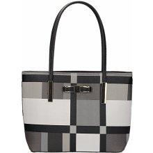 Gallantry kabelka s geometrickým vzorem černá