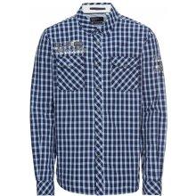 CAMP DAVID Košile  Shirt 1 1 check  námořnická modř   bílá b25683d9c3