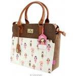 Santoro London Gorjuss taška přes rameno Traveller London hnědá/bílá/růžová