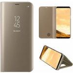 Pouzdro SES Zrcadlové Flip Samsung Galaxy Note 8 N950F - zlaté