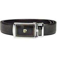 Pierre Cardin kvalitní černý pánský kožený opasek 50011 DP01 BLACK