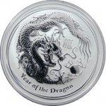 Lunární Stříbrná investiční mince Year of the Dragon Rok Draka 1 Oz 2012