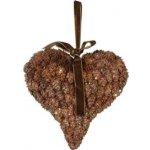 Závěsná dekorace srdce z šišek - SHISHI
