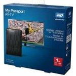 "WD My Passport AV-TV 1TB, 2,5"", WDBHDK0010BBK-E"