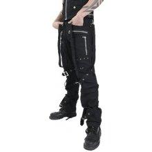 Gotické kalhoty pánské dlouhé s přezkami a popruhy