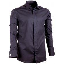 91324d36a39 Assante Regular pánská Košile prodloužená na manžetový knoflíček Černá 20111