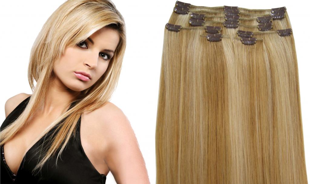 StylProTebe.cz Clip in sada 120g - melír 27 613 (medová blond světlá blond)  51 cm alternativy - Heureka.cz 301a478343c