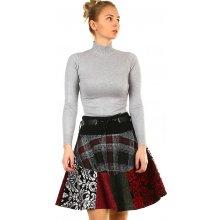 da139f9c8bf TopMode dámská zimní áčková sukně se vzory