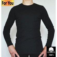 Pánské tričko dlouhý rukáv černé 0009292
