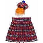 42ee35c3c4b Skotská kostkovaná souprava sukně a čepice s vlasy