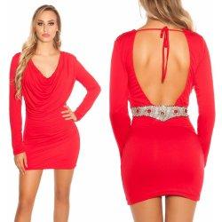 1325b3433a7d Večerní mini šaty s otevřenými zády a kamínky Koucla červené od 929 ...