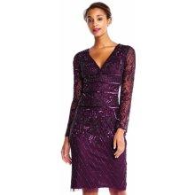 5f9e740922c8 Adrianna Papell luxusní společenské šaty s rukávy amethyst purple