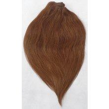 Kaštanové vlasy - Clip-in set, 10 ks, 50 cm, REMY, 160g (008)