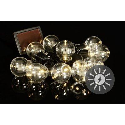 LED solární světelný řetěz Esotec 102168, venkovní, solární napájení, teplá bílá, 8 m