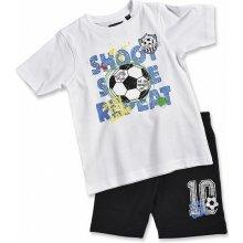 Blue Seven Dětská souprava bílé tričko a kraťasy Football