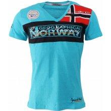 GEOGRAPHICAL NORWAY tričko pánské JERARD SS MEN 100 tyrkysová 65f8b56dce