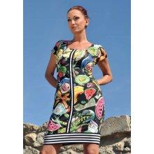 78ddfda99 Dámské šaty Axello 26023 s melouny krátký rukáv barevné