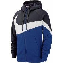 Nike HBR Zip Hoody Mens Navy White 967335890af