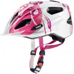 Přilba, helma, kokoska Uvex QUATRO JUNIOR pink silver 2017