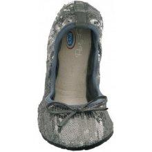 31e20660a678 Scholl Pocket Ballerina New sequins stříbrné baleríny