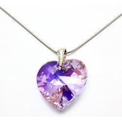 20b8f63c7 Swarovski Srdce velké - 6228 (violet AB) 3cm alternativy - Heureka.cz
