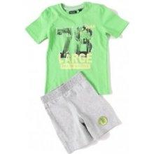 BLUE SEVEN SET: tričko + kraťásky 'DINO' zelená 827007 jasně zelená