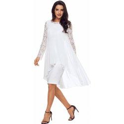 Společenské šaty s krajkovými rukávy bílá od 899 Kč - Heureka.cz b2b1b2aa36