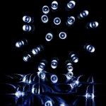 Vánoční LED osvětlení 60 m - studená bílá 600 LED - zelený kabel OEM M39464
