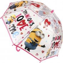 Cerda Průhledný deštník Mimoni srdíčka 22049