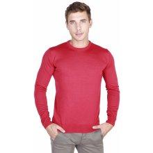Trussardi Pánský svetr s kulatým výstřihem červená