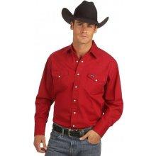 Wrangler Cowboy Cut Western Solid Work Shirt
