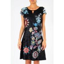4968db9811bf 101 Idees dámské šaty Květy 335503-2 černá