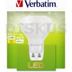 Verbatim LED žárovka GU10 5W 350lm 50W typ PAR16 35° teplá bílá