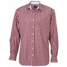 0b3f0422c2e Pánské košile Pánská kostkovaná košile - červená - Heureka.cz