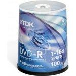 TDK DVD-R 4,7GB 16x, cakebox, 100ks (T19479)