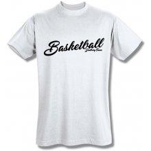 Style T Shirt Basketball Bílá