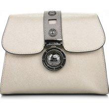 Cromia zlatá kožená kabelka s HNĚDOU přezkou Gloria c59053fd17