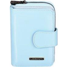 Lorenti Dámská kožená peněženka italská malá modrá 76115 L.BLUE