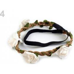 Pružná čelenka do vlasů s růžemi bílá 1ks alternativy - Heureka.cz 188df22388