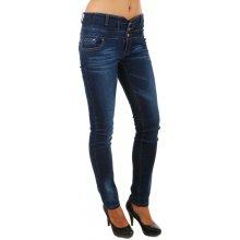 Glara Dámské džíny s vysokým pasem tmavě modrá 77586 cfa0b857ff