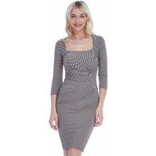 CityGoddess šaty s elegantním skladem s puntíky nude 2d4775a152