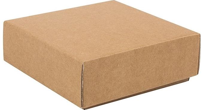 a98221cee Dárková krabička s víkem 100x100x35 mm, hnědá kraftová od 22 Kč - Heureka.cz