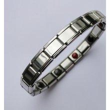 Germaniový náramek stříbrný lesklý E800-2
