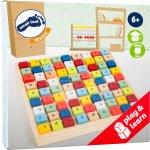 Dřevěné hry Dřevěné sudoku barevné kostičky