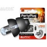 Alpine PartyPlug Black Špunty do uší SNR 19 dB 1 pár