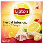 Lipton Citron&Zázvor aromatizovaný čaj se zázvorem 20 sáčků 40 g