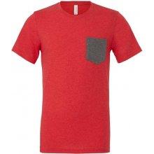 Tričko s kapsou Červená