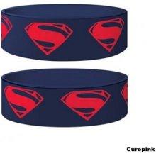 Náramek silikonový Superman Man of Steel modrý šířka WR67138 CurePink