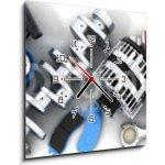 WEBLUX Obraz s hodinami 1D - 50 x 50 cm - Car parts Autodíly